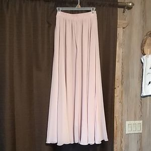 Beautiful long flowy pale pink skirt.